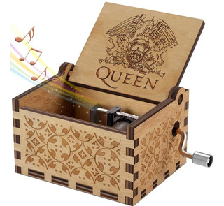 Caja Musical - Bohemian Rhapsody Queen Fan Regalo Madera