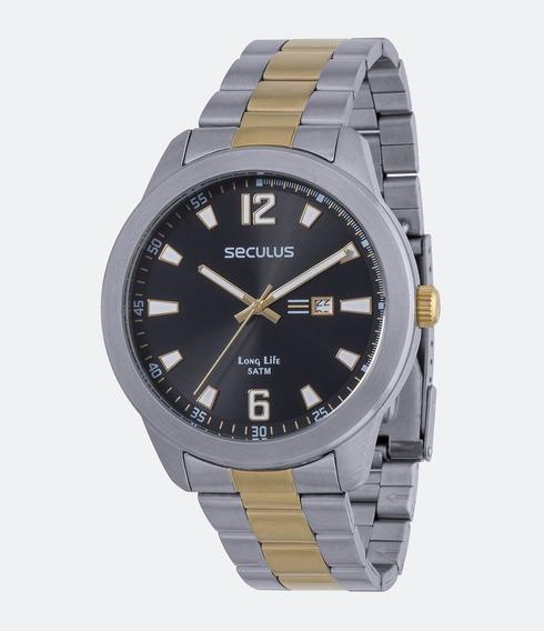 Relógio Masculino Seculus 28721gpsvba1 Barato E Original