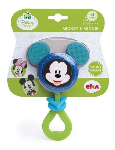 Imagem 1 de 3 de Chocalho E Mordedor Mickey E Minnie Disney Baby Elka