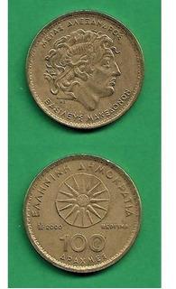 Grr-moneda De Grecia 100 Drachmes 2000 - Alejandro Magno!