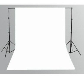 1 Tecido 3x8 Branco Fundo Infinito Estudio Fotografico Foto