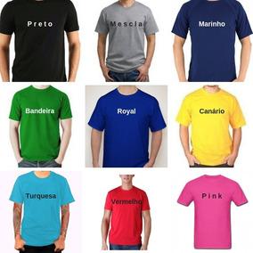 bf786b583e Kit 10 Camisetas Lisas Colorida 100% Algodao - Calçados