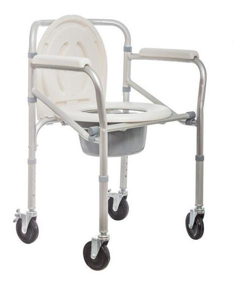 Silla Cómodo De Baño Plegable De Aluminio 100kg - Eko-mobili