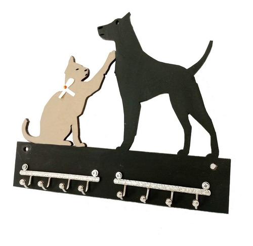 Imagem 1 de 1 de Porta Chaves Gatinho E Cachorro