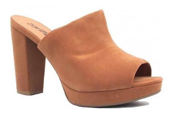 Tamanco Zariff Shoes Salto Grosso Bico Aberto8411-790