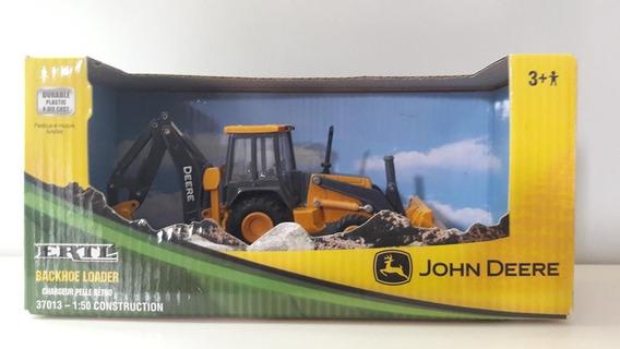 Miniatura Retro Escavadeira John Deere, Ertl, Escala 1:50