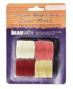 Beadsmith Slon Bead Cord Size 18 Berry Pie Color Mix 4 Color