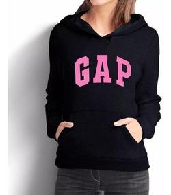 Moletom Feminino Gap Casaco Blusa De Frio Rosa Canguru Capuz