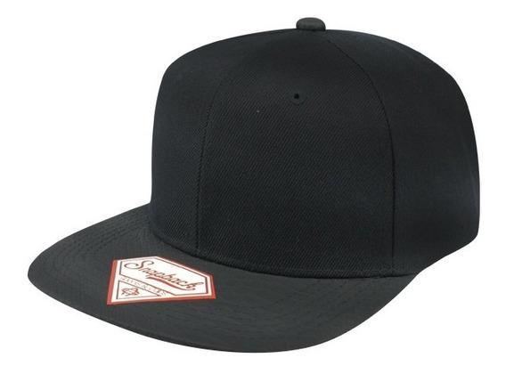 Gorra Sport Caps Snapback Snake Visor Negro Unitalla