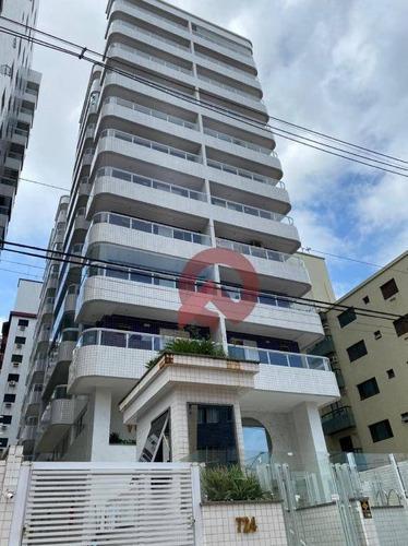 Apartamento Com 2 Dormitórios À Venda, 65 M² Por R$ 315.000,00 - Canto Do Forte - Praia Grande/sp - Ap3367