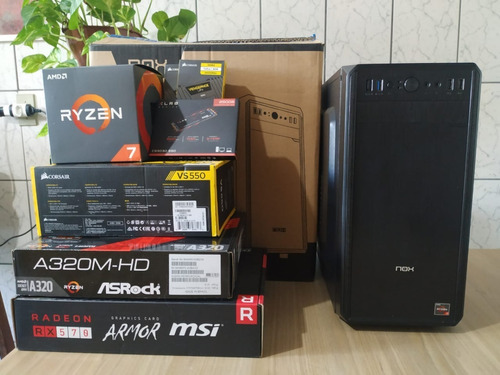 Pc Gamer Ryzen 7 2700 16gb Ram 256gb Ssd + 1tb Hd Rx570 Oc
