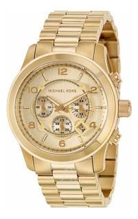 Reloj Michael Kors Oversized Dorado Cronografo Unisex Mk8077