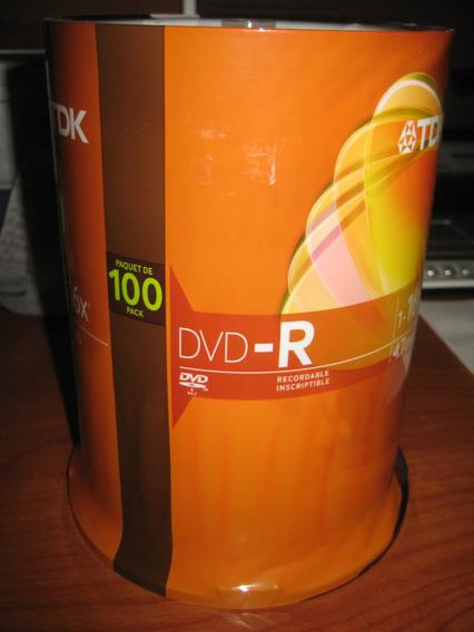 Dvd-r Marca Tdk Virgenes Por Torre De 100 Unid