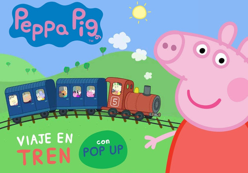 Libro Peppa Pig Pop Up - Viaje En Tren Con Peppa Pig