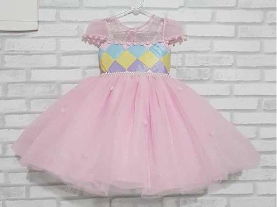 Vestido De Luxo Circo Rosa