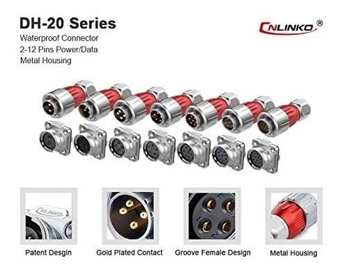 Cnlinko Conector Circular Industrial De 3 Pines Enchufe Mac Mercado Libre