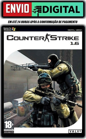 Counter Strike 1.6 Com Bots E Mapa Do Rj [pc] Envio Digital