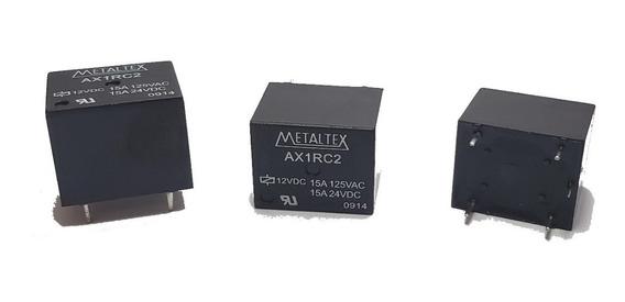 Rele Metaltex Ax1rc2 12v 15a 5 Pinos (03 Peças )