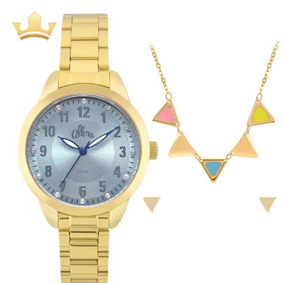 Relógio Allora Feminino Kit Al2035fku/k4a Com Nf