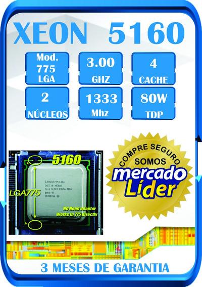 Processador Intel Xeon 5160 3.00 Ghz 4m 1333 Lga 775 Mod ¨
