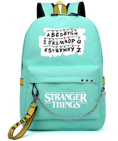 Mochila Stranger Things Bolsa Escolar - Por Encomenda