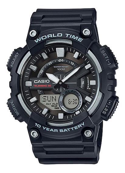 Relógio Casio Aeq-110w-1avdf Masculino Preto - Refinado