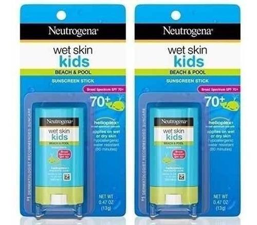 Neutrogena Wet Skin Kids Fps 70 Resistente Água - 2 Unid