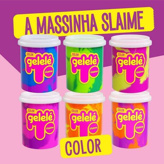 Slime Gelele Color 152g Com Cheiro De Fruta - 12 Unidades