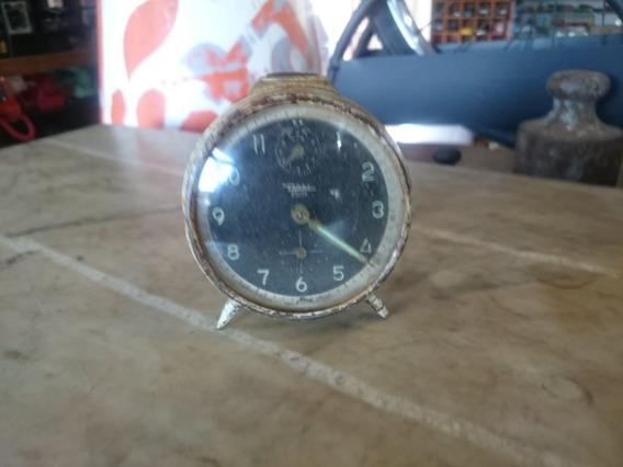 Relógio Antigo Diehl A Corda Despertador Alemão Ñ Silco 1004