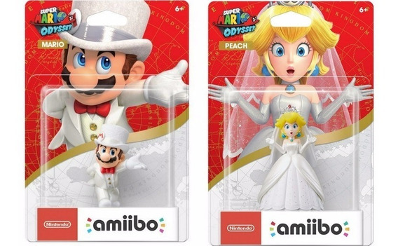 Amiibos Mario Odyssey Peach Wedding Outfit Switch Super 3ds
