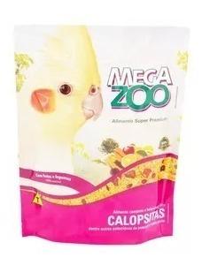 Ração Megazoo Para Calopsitas Frutas E Legumes 350g
