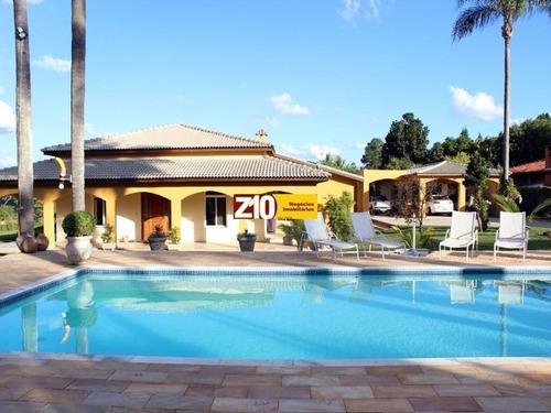 Imagem 1 de 30 de At: 5100,00 M2 - Ac: 650,00 M2 - Magnifica Chacara, Condominio Residencial Polaris - Casa Completa - Casa De Campo - Indaiatuba/sp Z10 Imoveis - Ch01732 - 33614777