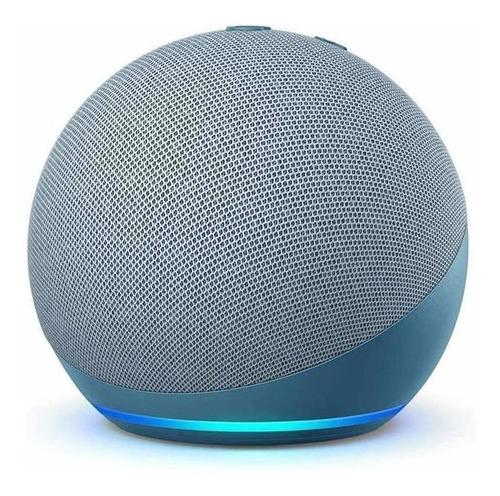 Imagen 1 de 5 de Amazon Echo Dot 4th Gen con asistente virtual Alexa twilight blue 110V/240V