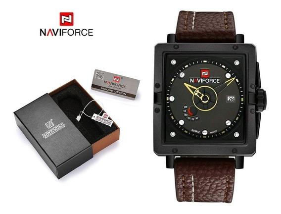 Relógio Naviforce Original Masculino Pulseira De Couro Barat