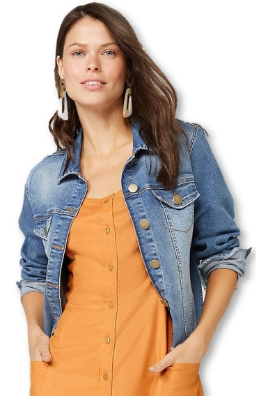Jaqueta Jeans Feminina Hering H84k New