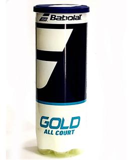 Tubo De Pelotas Babolat Gold X 3 Excelente Durabilidad