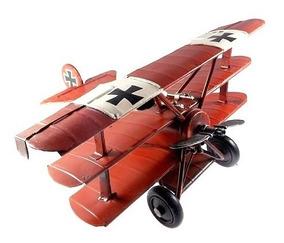 Avião Miniatura De Ferro Vintage / Retrô