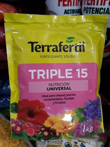 Imagen 1 de 5 de Fertilizante Triple 15 Granulado 1 Kg Envios