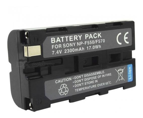 Kit Com 3 Baterias Para Sony Np-f570 Novas 7.4v 2200mah