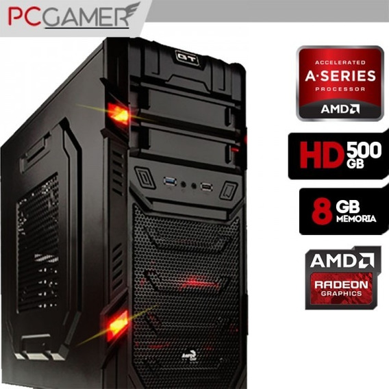 Computador Gamer Gt Amd A4 7300, 8gb Ram, Hd 8470d, 500gb