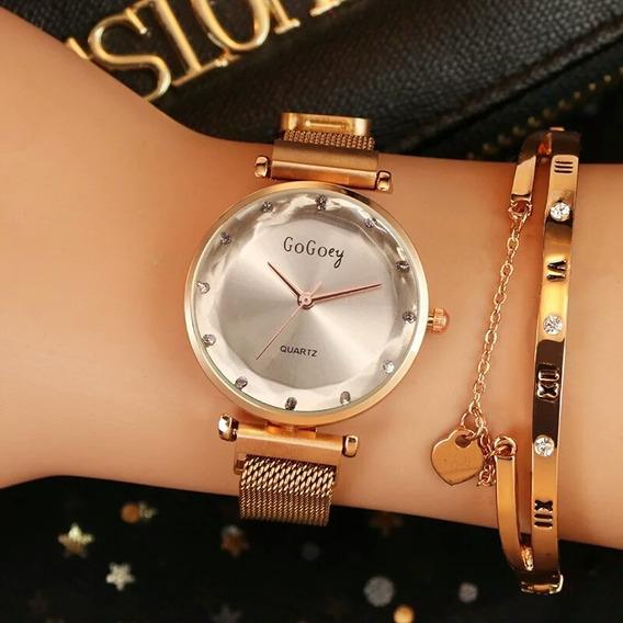 Reloj Mujer Correa Magnética Ajustable