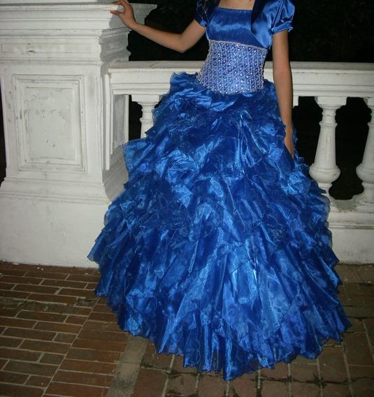 Vestido De 15 Azul Impecable