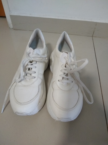 Zapatillas Sneakers Blancas Savage Excelente Estado