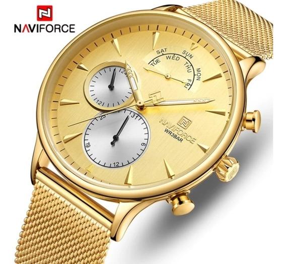 Relógio Masculino Militar Luxo Naviforce Top Original