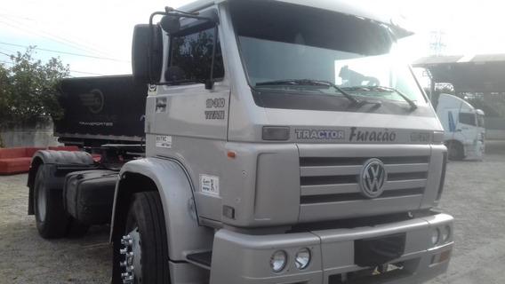 Vw 18310 4x2 2005 Prata Motor Novo