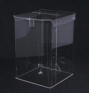 Urnas Acrílico Colado 30x30x40 Esquinas Termoformadas. Urna
