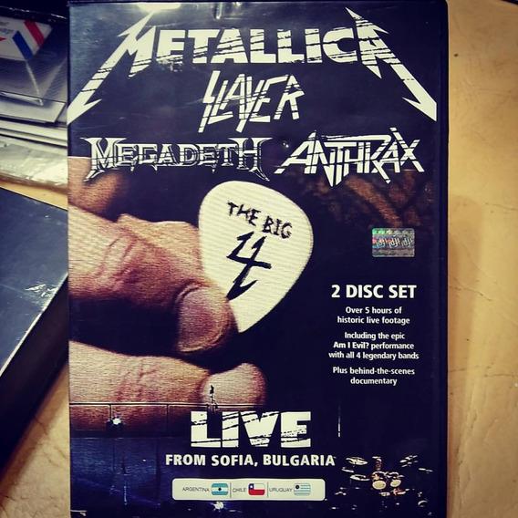 Metallica Megadeth Slayer Anthrax The Big 4: Live 2dvd