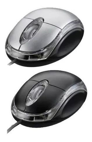 Mouse Exbom Óptico Usb P/ Notebook Windows Color Led Pc