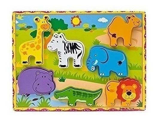Animales Divertidos Juego Madera Primera Infancia Fibro 6427