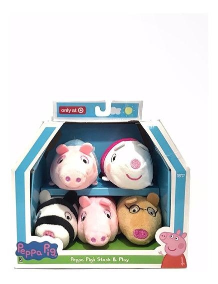Pelúcias Peppa Pig Tsum Tsum C/ 5 Unidades Importado Eua